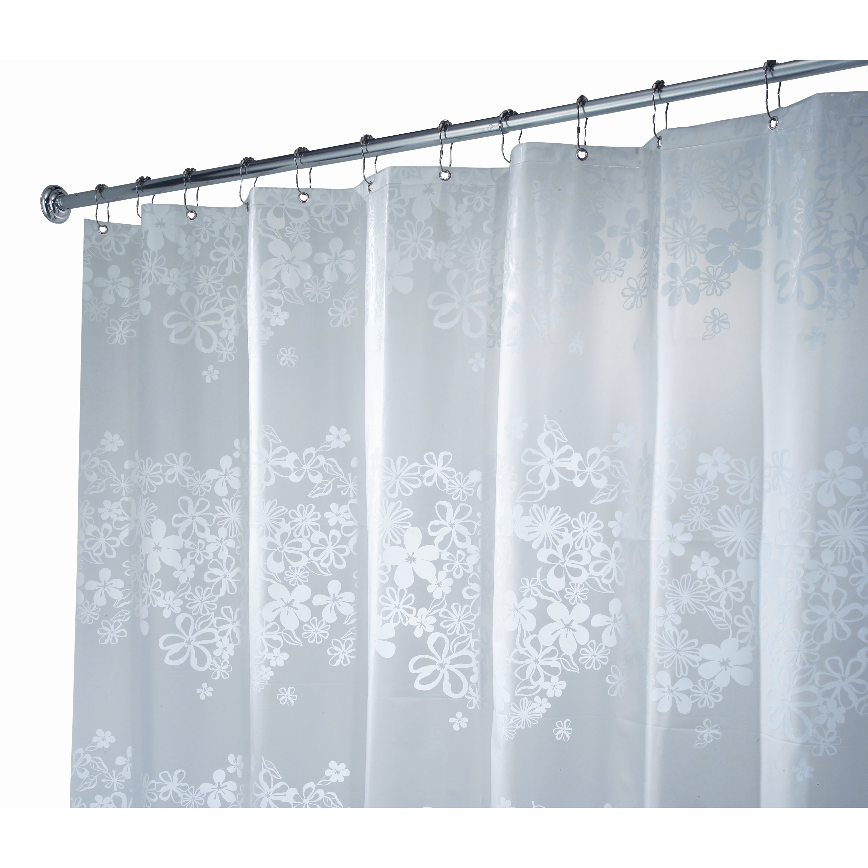 Interdesign eva vinyl shower curtain reviews wayfair for Shower curtain savers