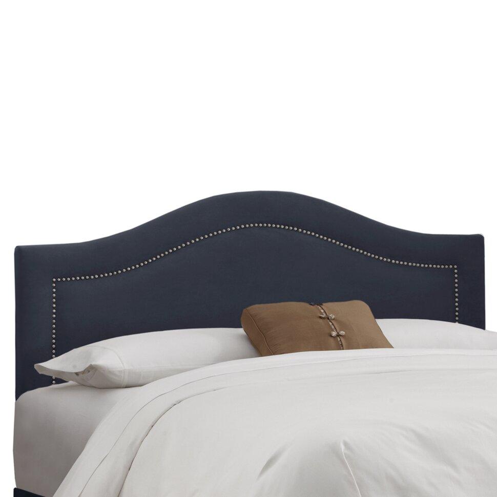 Skyline Furniture Nail Button Linen Upholstered Panel