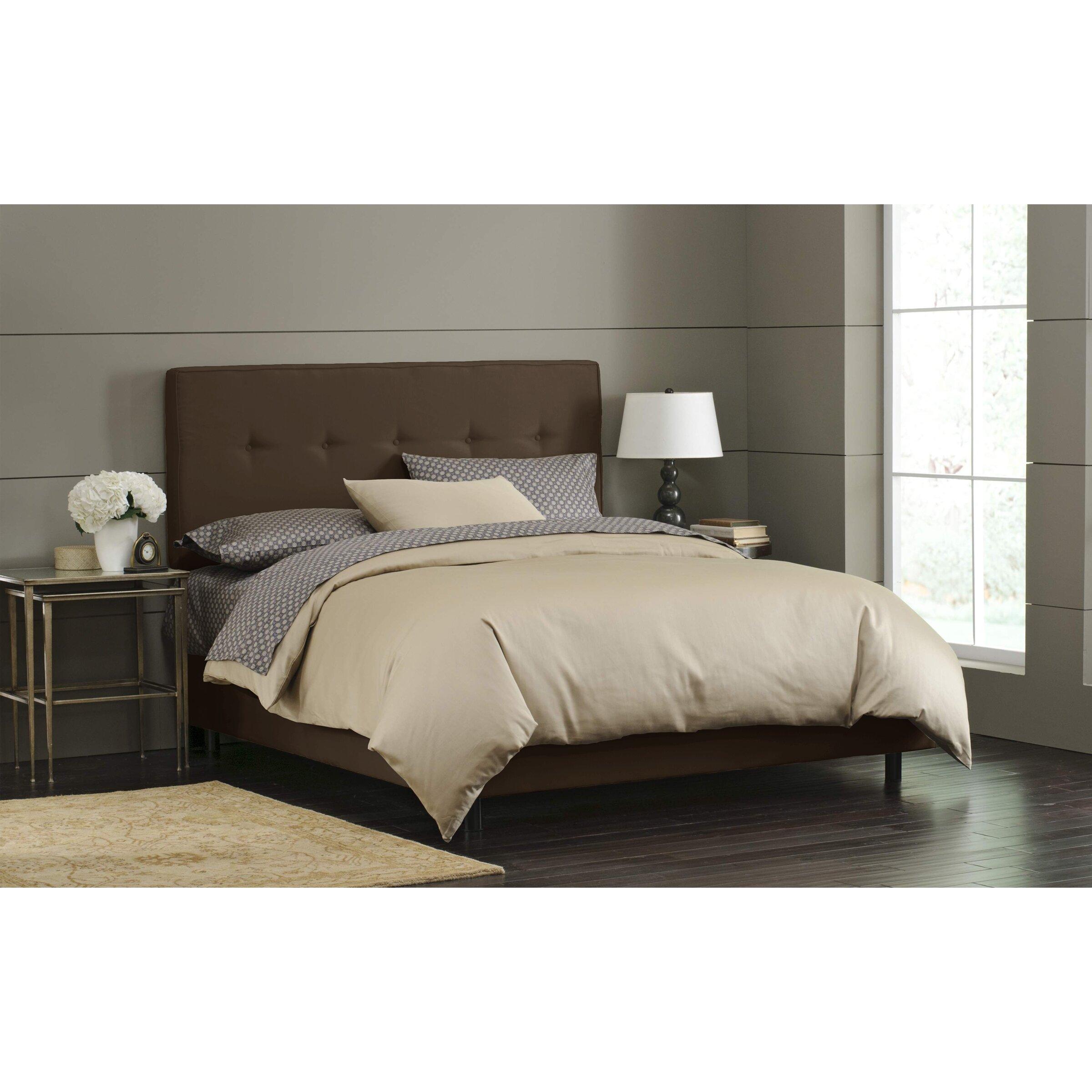 Tufted Bedroom: Skyline Furniture Button Tufted Upholstered Panel Bed