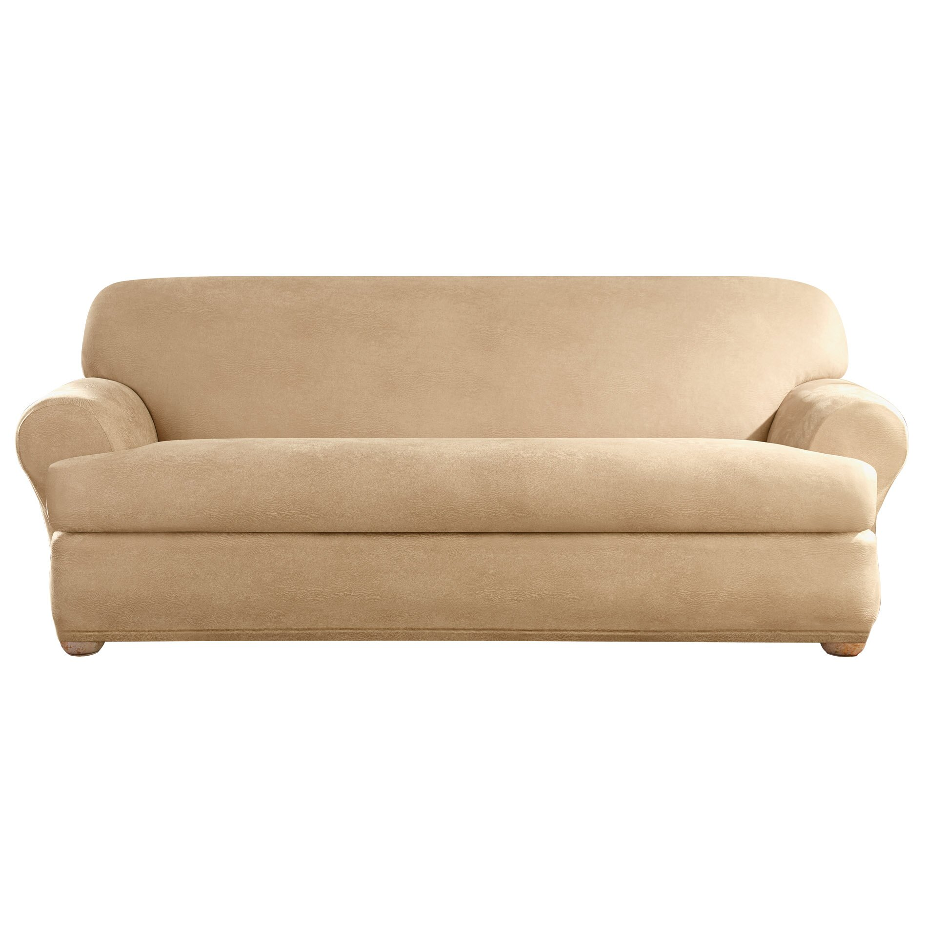 Sure Fit Stretch Leather Sofa T Cushion Slipcover Reviews