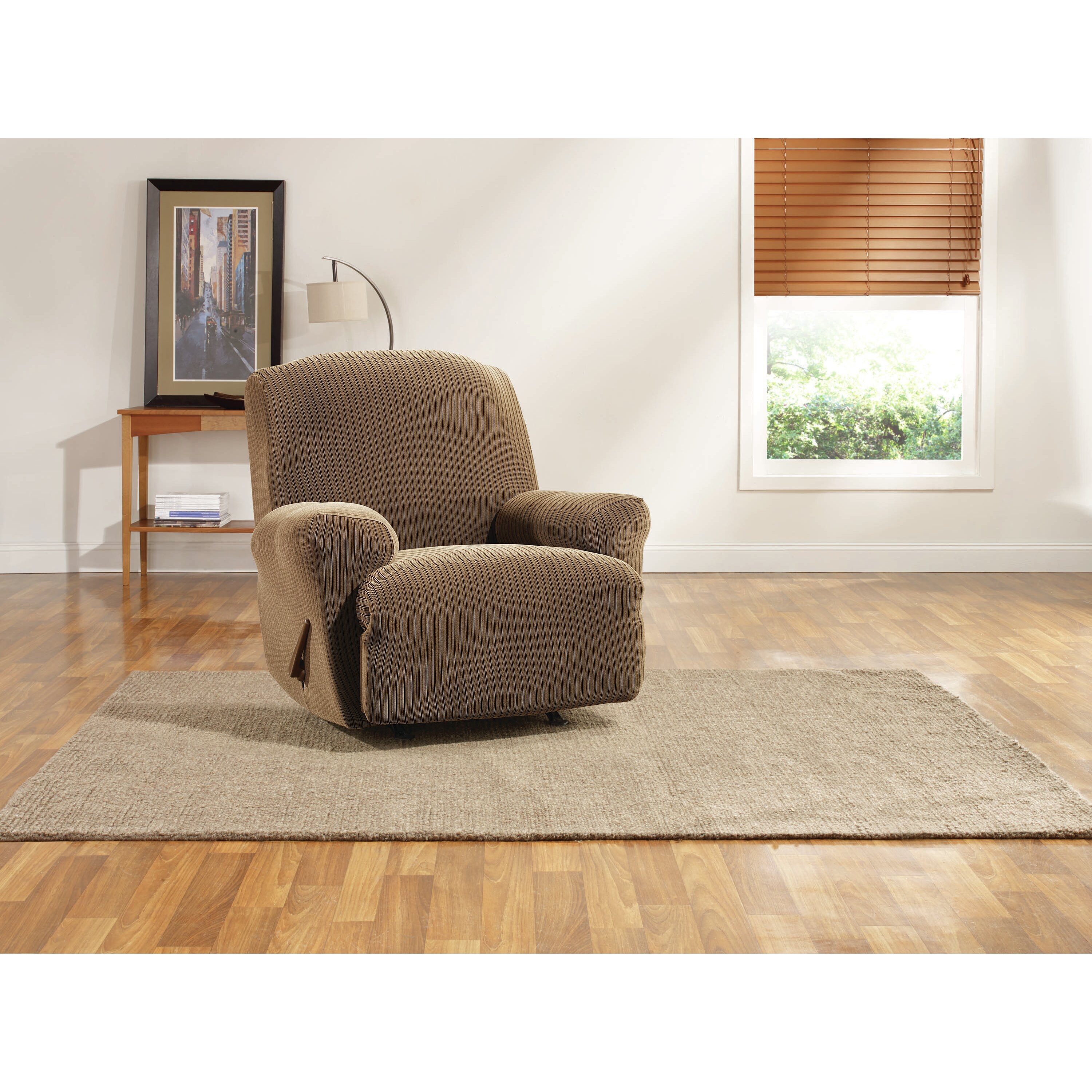 Sure Fit Ribbon Stripe Recliner Slipcover