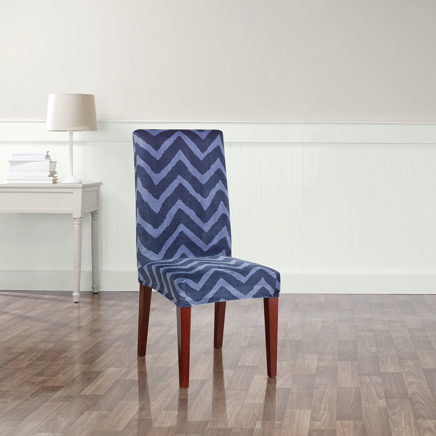 Sure Fit Stretch Chevron Dining Chair Slipcover Amp Reviews