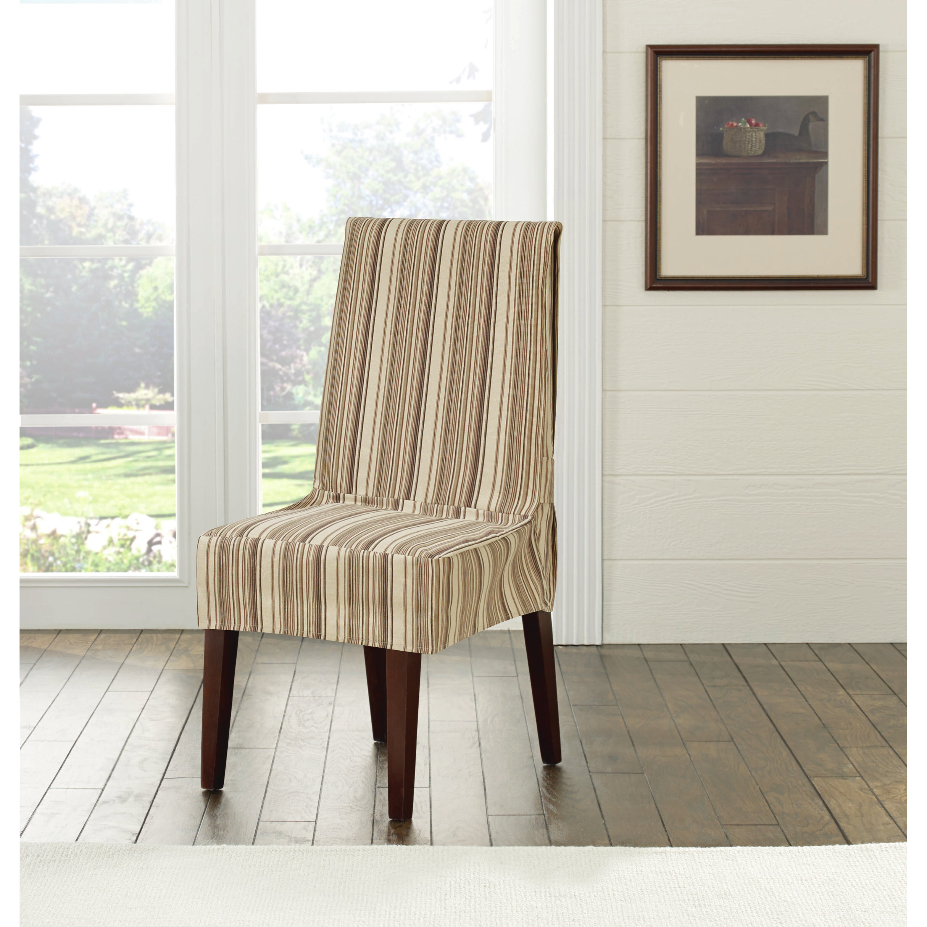 Sure Fit Harbor Stripe Dining Chair Slipcover & Reviews ...