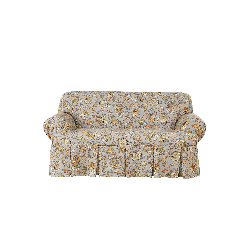 Sure Fit Tennyson Loveseat T Cushion Skirted Slipcover Reviews Wayfair