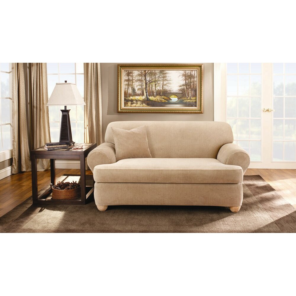 Sure Fit Stretch Stripe Sofa T Cushion Slipcover Reviews