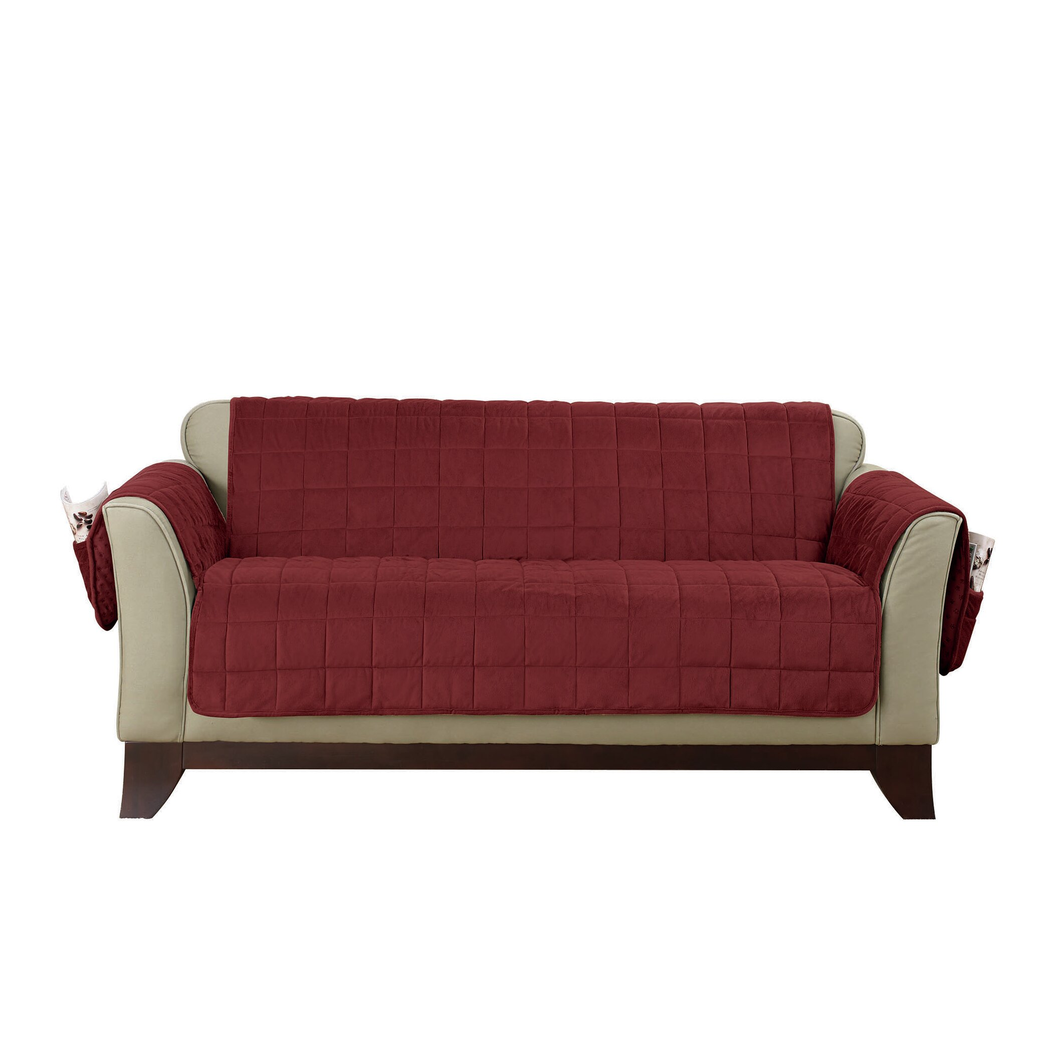 Sure fit loveseat t cushion slipcover wayfair Loveseat t cushion slipcovers