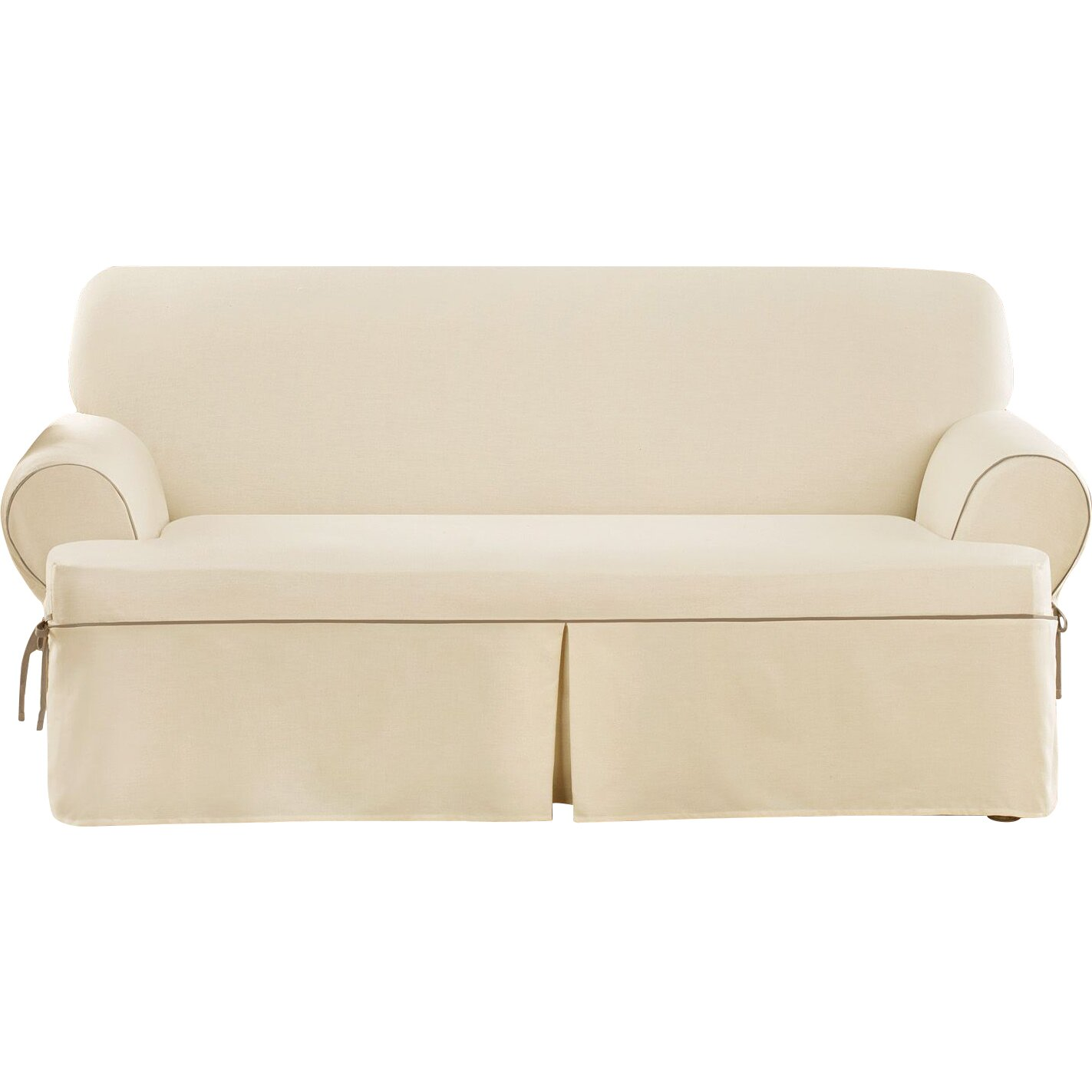 Sure Fit Cotton Duck Sofa T Cushion Slipcover amp Reviews  : Cotton Duck Sofa T Cushion Slipcover from www.wayfair.ca size 1423 x 1423 jpeg 129kB