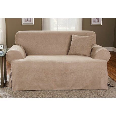 Sure fit sofa t cushion slipcover reviews wayfair Loveseat t cushion slipcovers