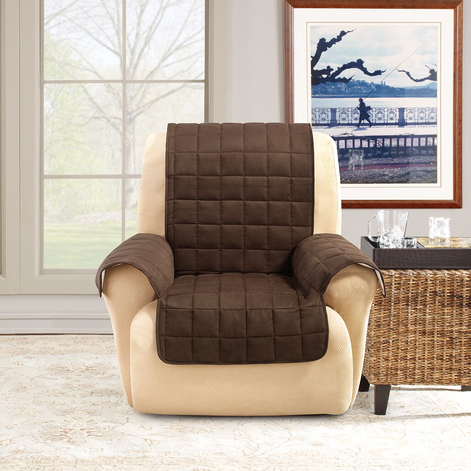 Sure Fit Recliner Slipcover & Reviews