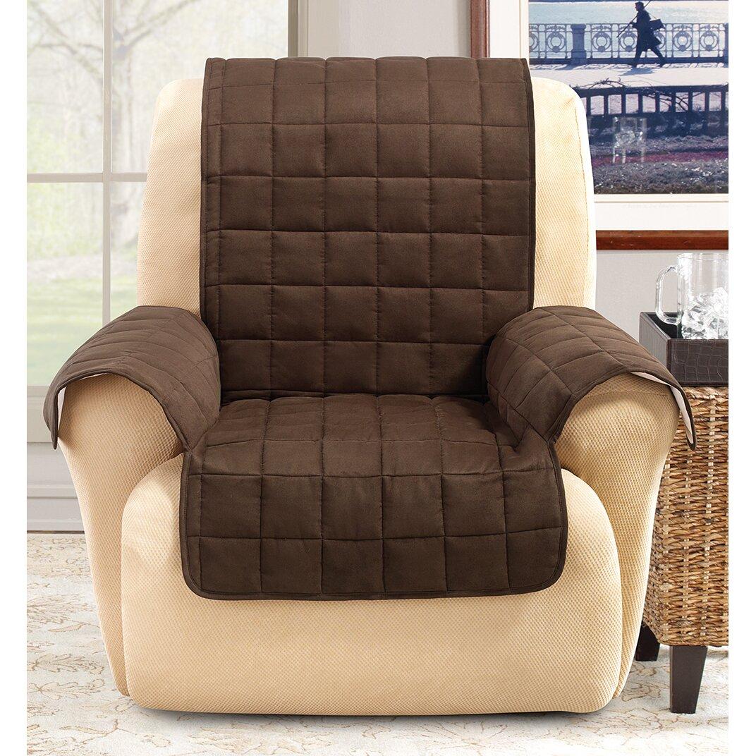 sure fit recliner slipcover reviews wayfair. Black Bedroom Furniture Sets. Home Design Ideas
