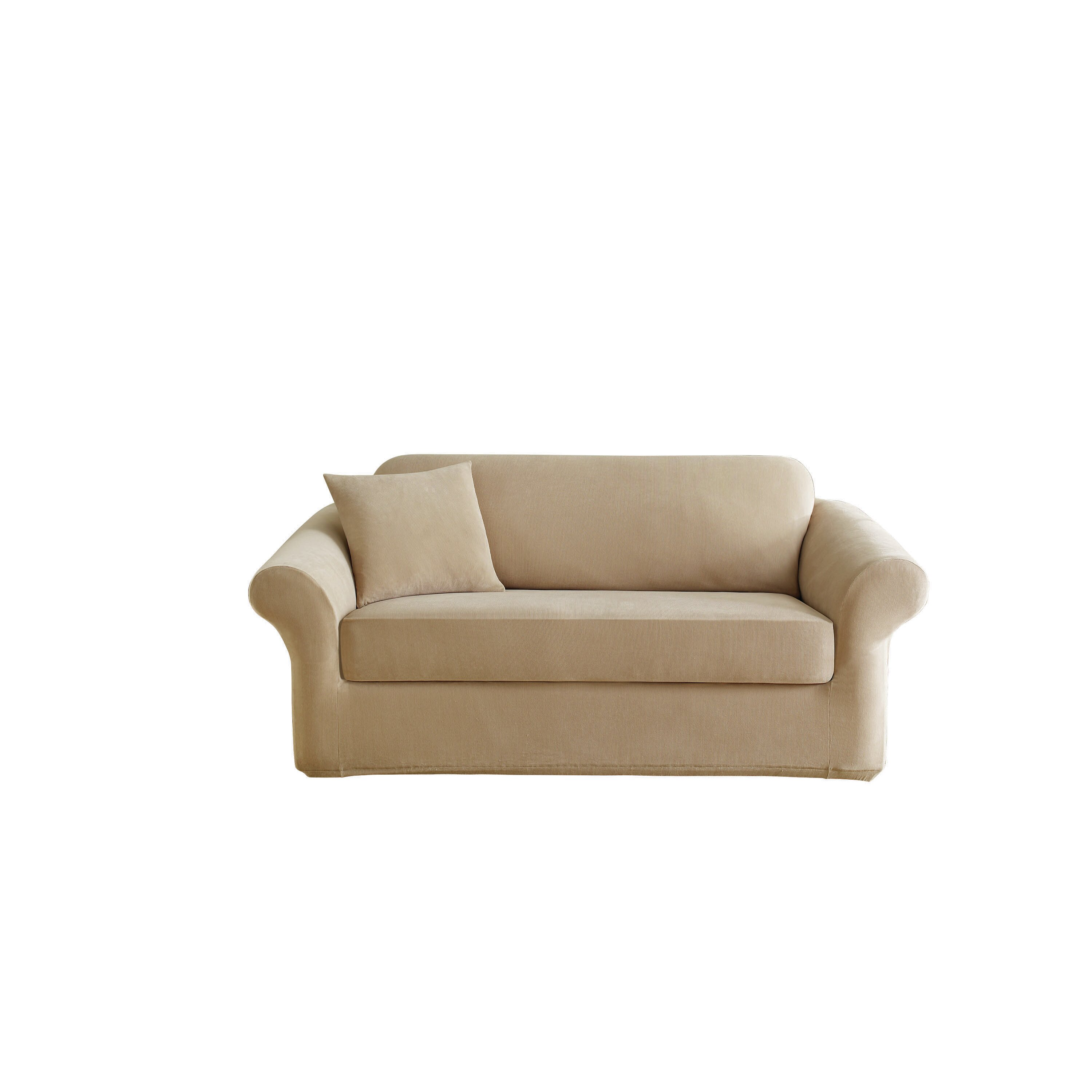 Sure Fit Stretch Pearson Polyester Loveseat Slipcover