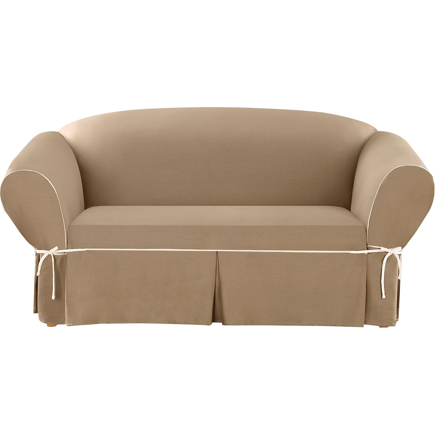 Sure Fit Cotton Duck Loveseat Slipcover Reviews