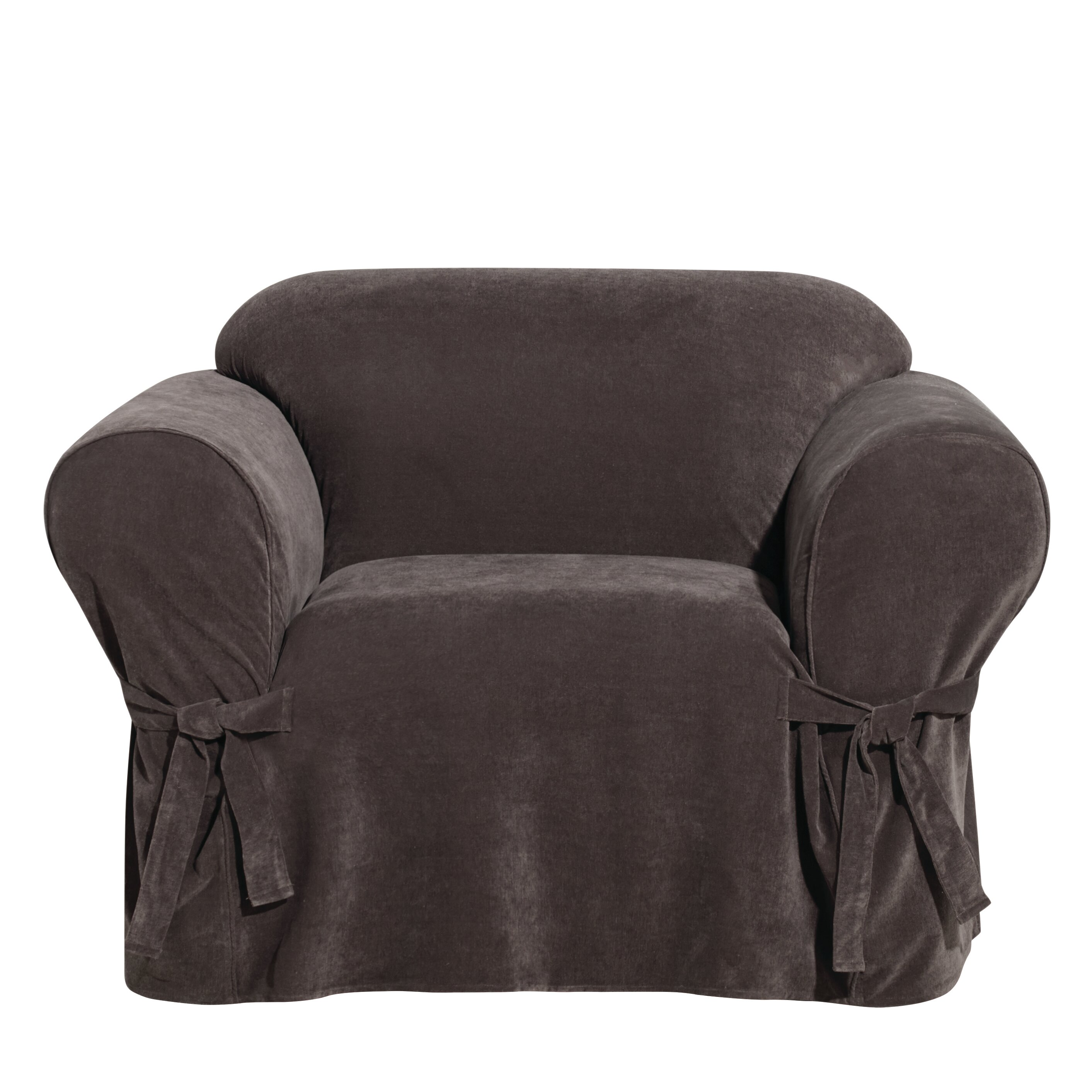 Chenille Armchair: Sure Fit Everyday Chenille Armchair Skirted Slipcover