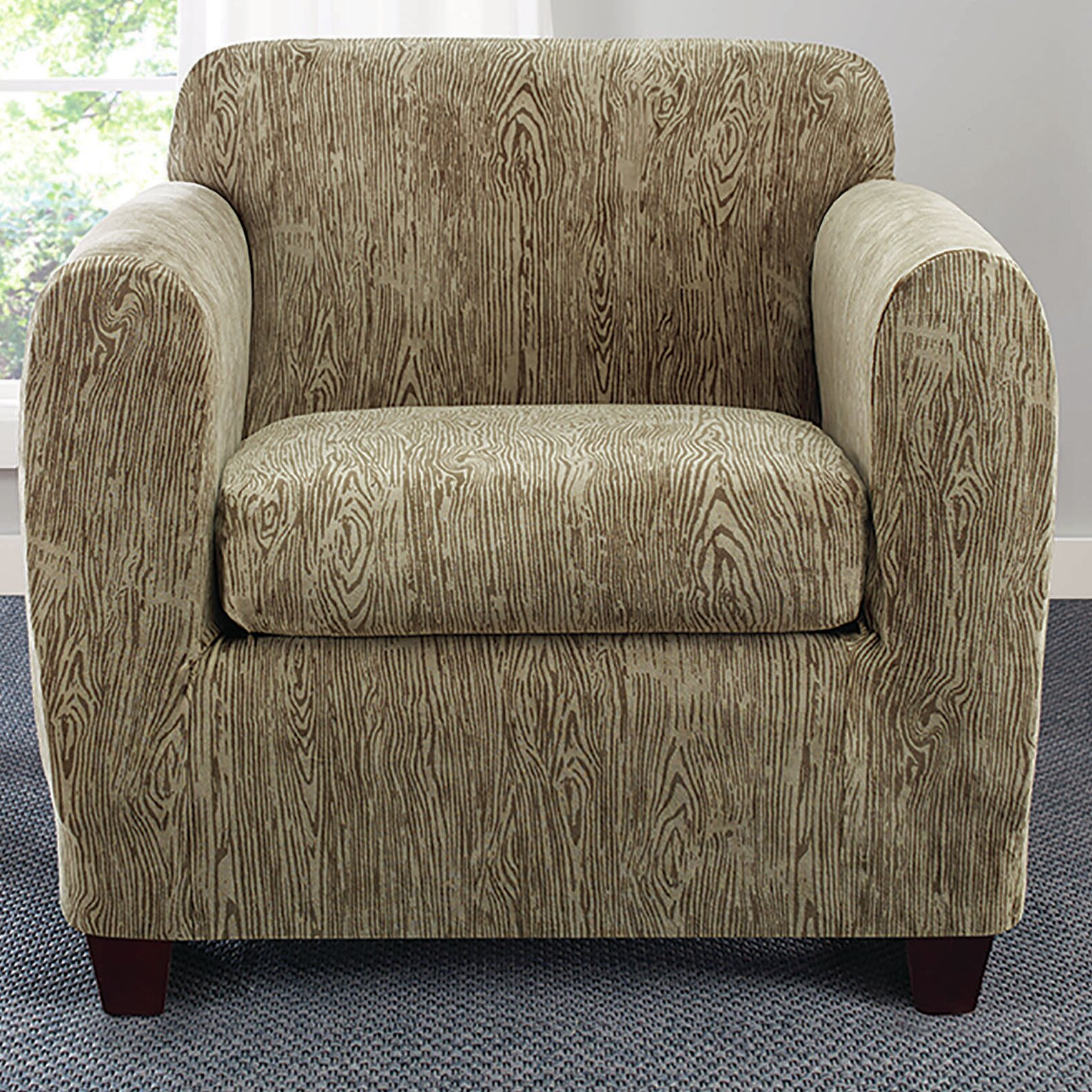 Sure Fit Stretch Sycamore Arm Chair Slipcover & Reviews ...
