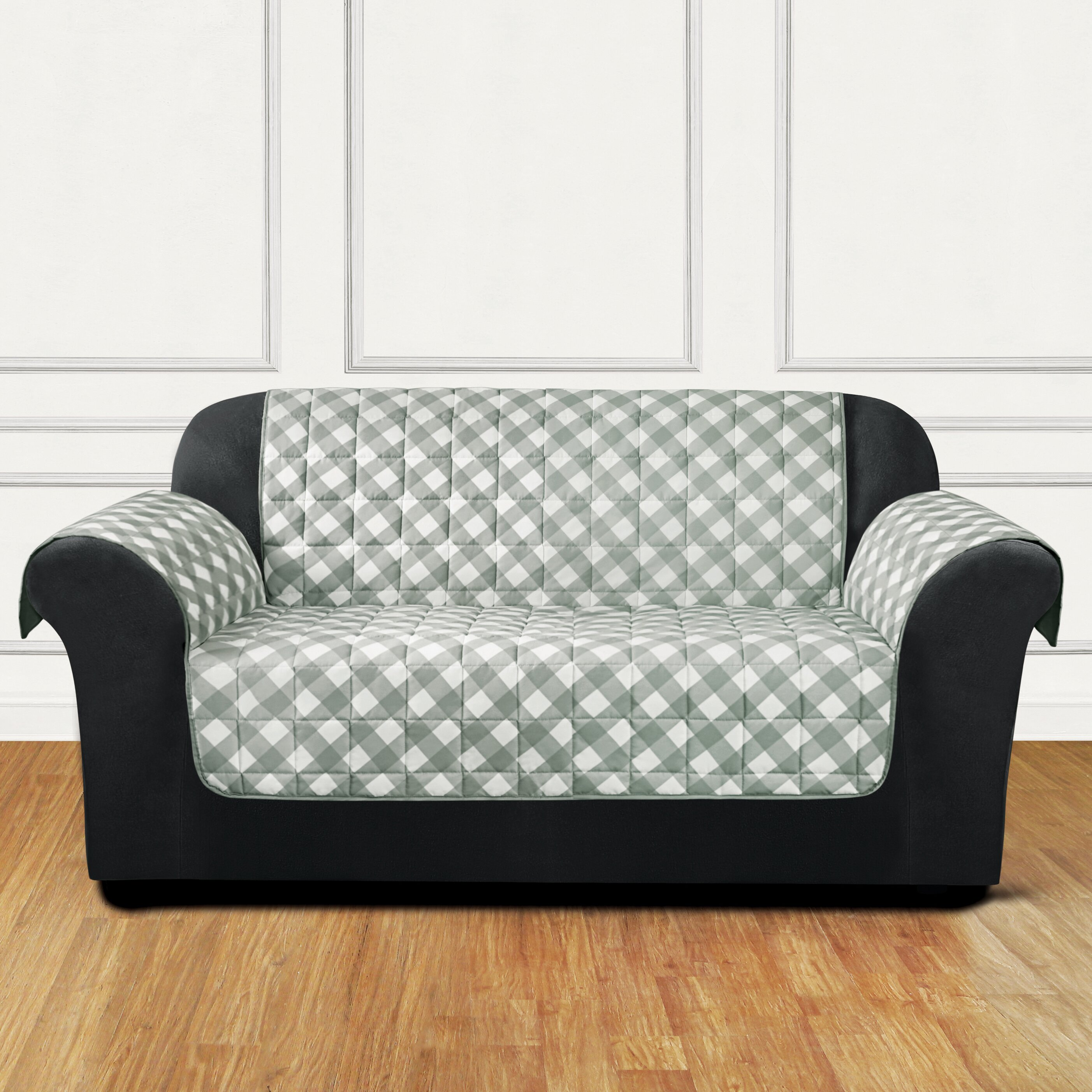 Sure fit furniture flair flash loveseat t cushion slipcover wayfair Loveseat t cushion slipcovers