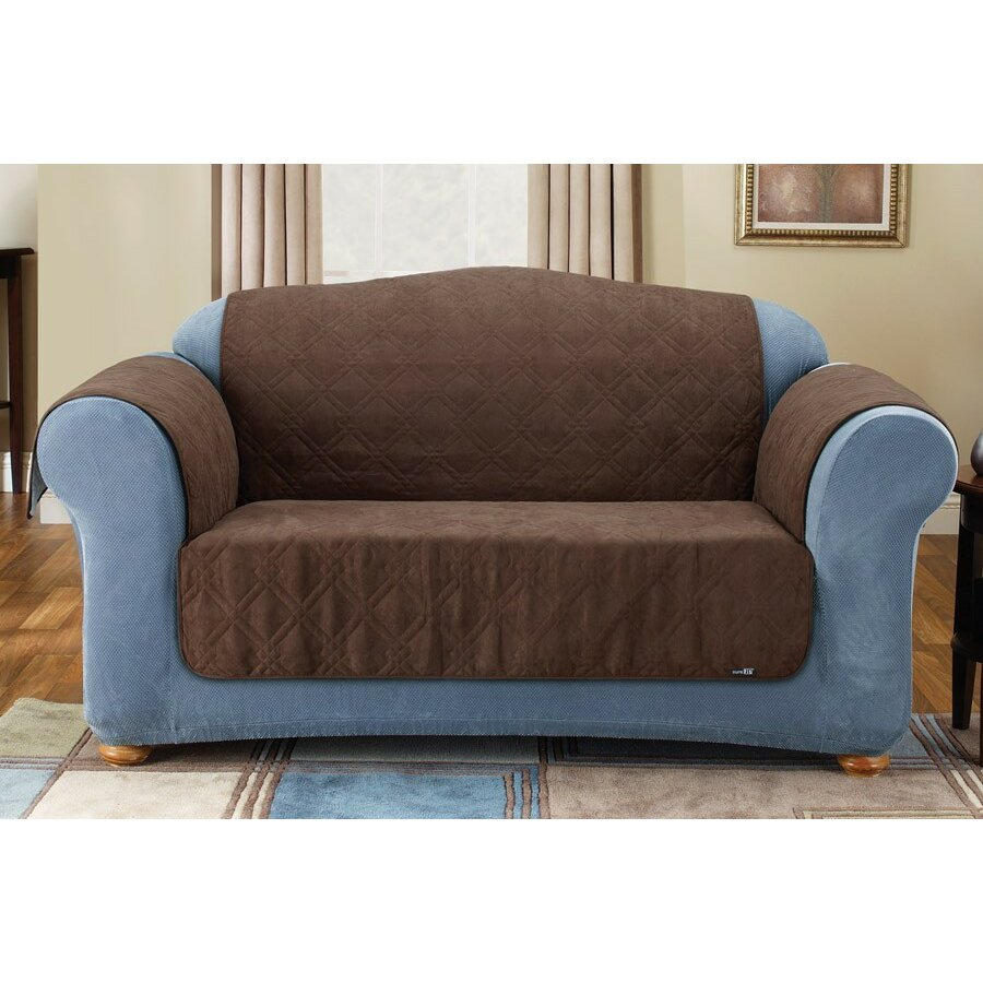Sure fit soft suede furniture friend sofa cover reviews for Suede furniture