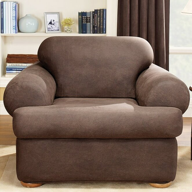 Sure Fit Stretch Leather Chair T Cushion Slipcover