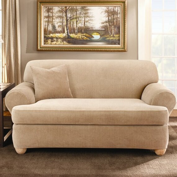Sure Fit Stretch Stripe Sofa T-Cushion Slipcover & Reviews