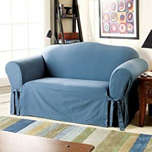 Sure Fit Cotton Duck Loveseat Skirted Slipcover Amp Reviews