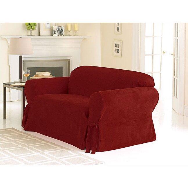sure fit soft suede sofa slipcover reviews wayfair