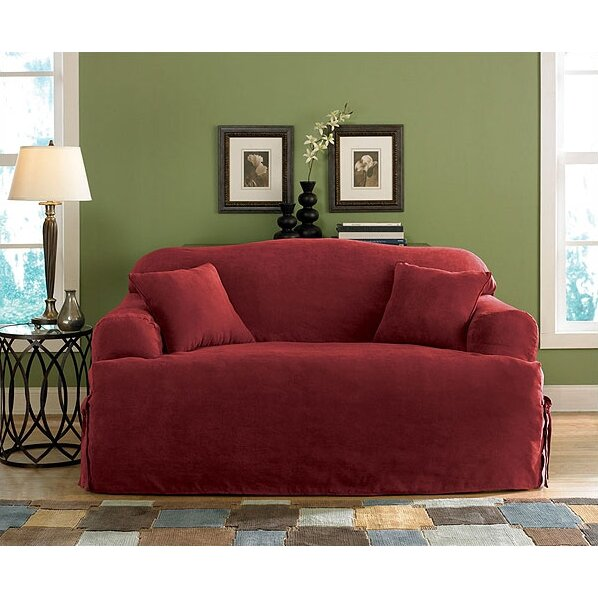 sure fit soft suede sofa t cushion slipcover reviews
