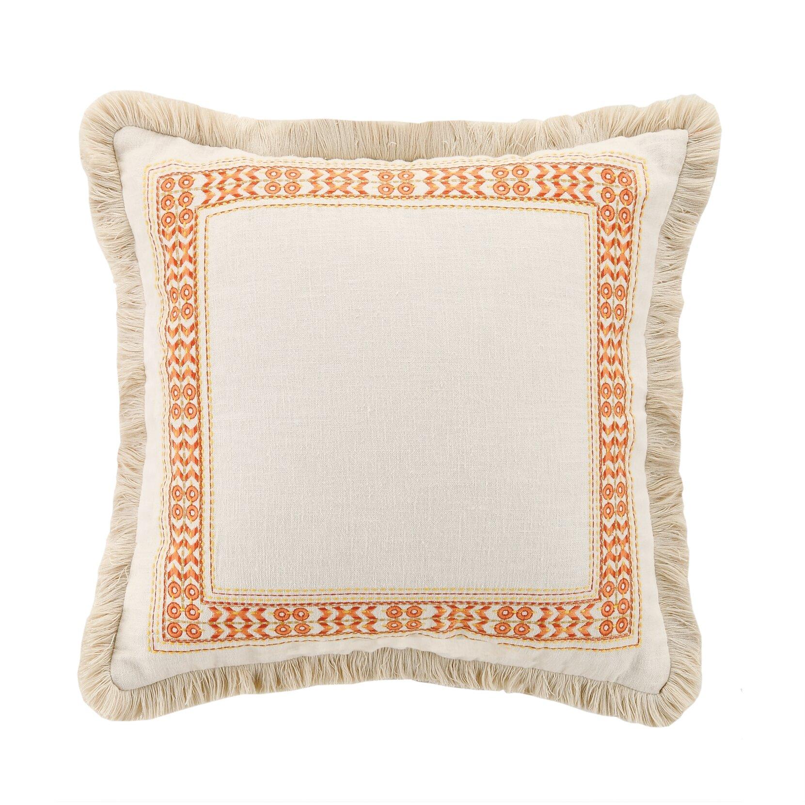 Decorative Pillows Trina Turk : Trina Turk Canoga Embroidered Linen Throw Pillow & Reviews Wayfair