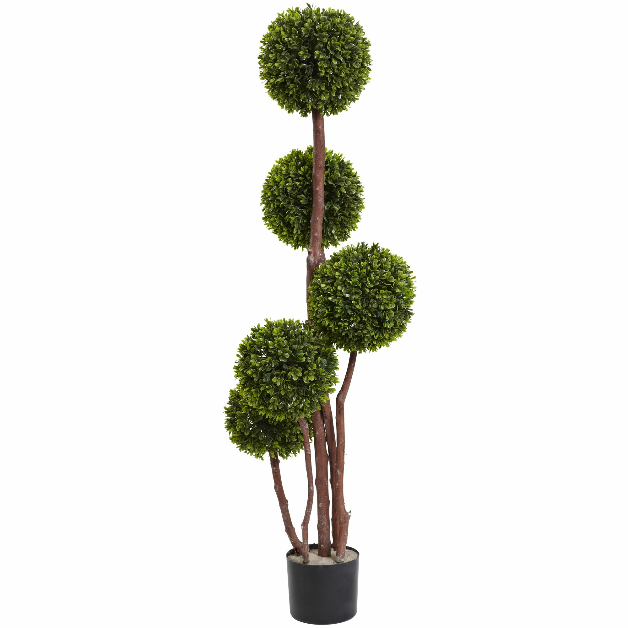 Nearly Natural Boxwood Topiary In Pot Amp Reviews Wayfair