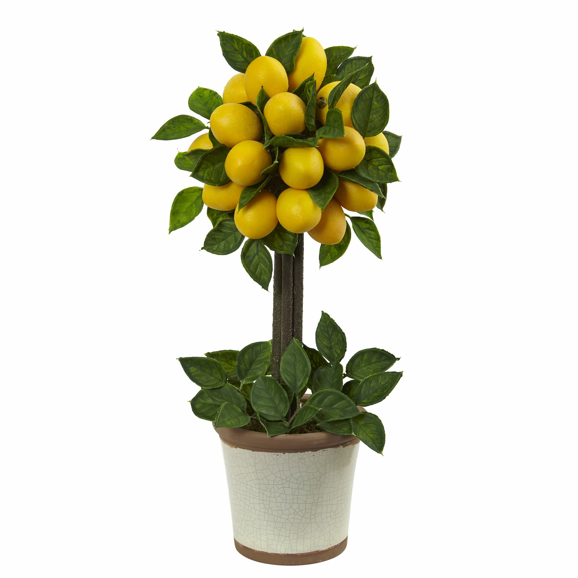 Lemon Kitchen Decor At Target: Nearly Natural Lemon Ball Round Topiary Arrangement In
