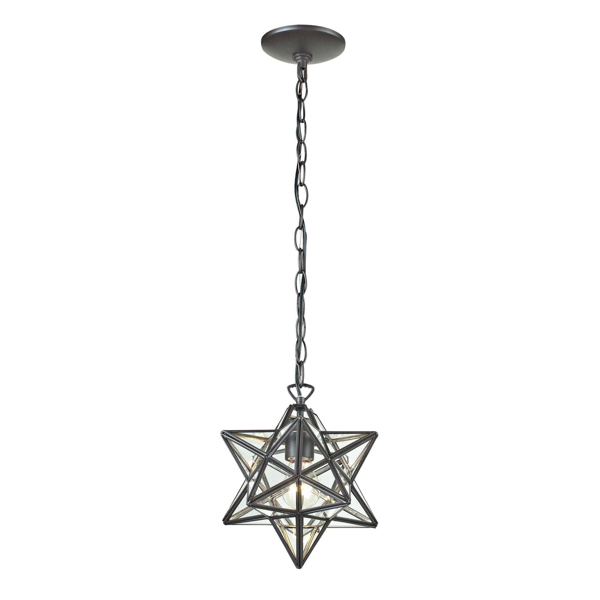 Sterling Industries 1 Light Star Pendant Reviews Wayfair