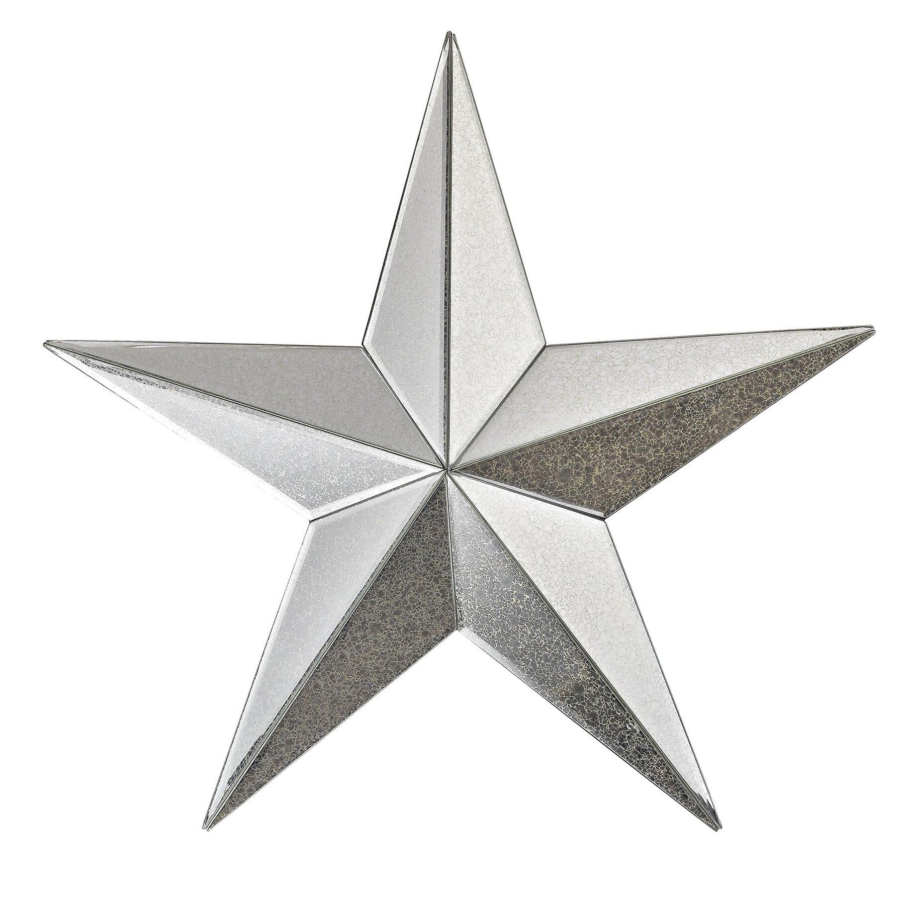 Mirrored Star Wall Decor