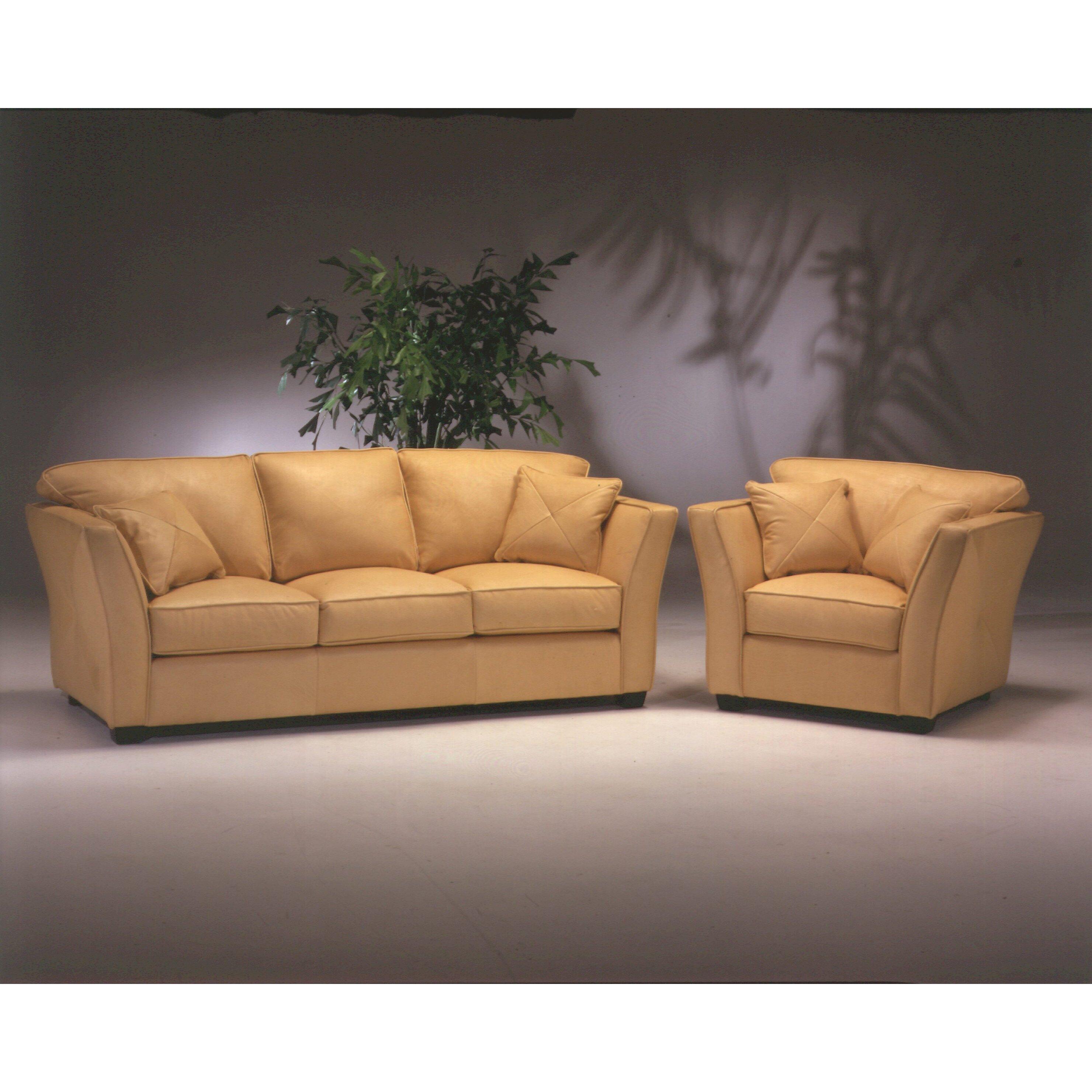 Omnia Leather Manhattan Leather Sofa Amp Reviews Wayfair