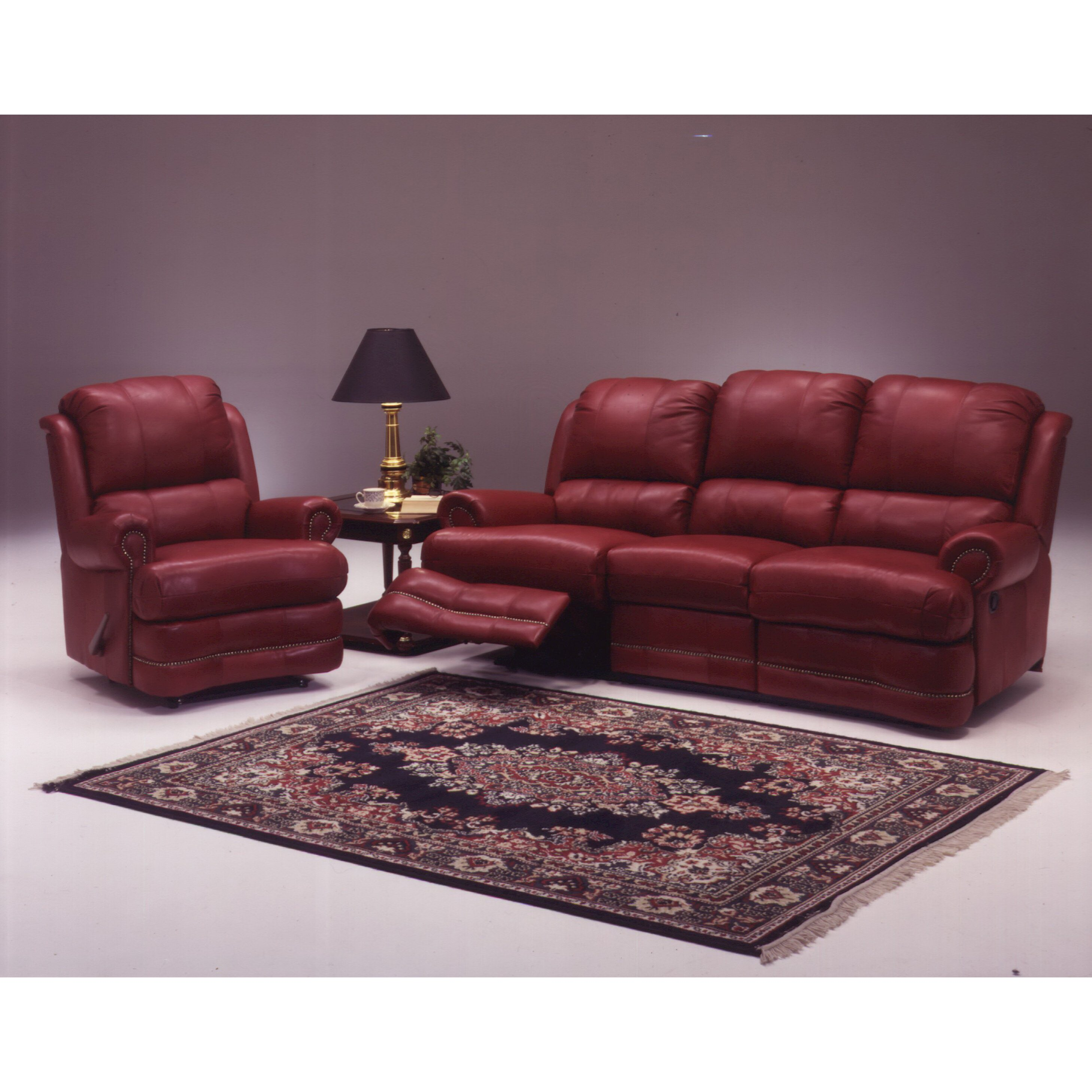 Living Room Sets Reclining: Omnia Leather Morgan Reclining Leather Living Room Set