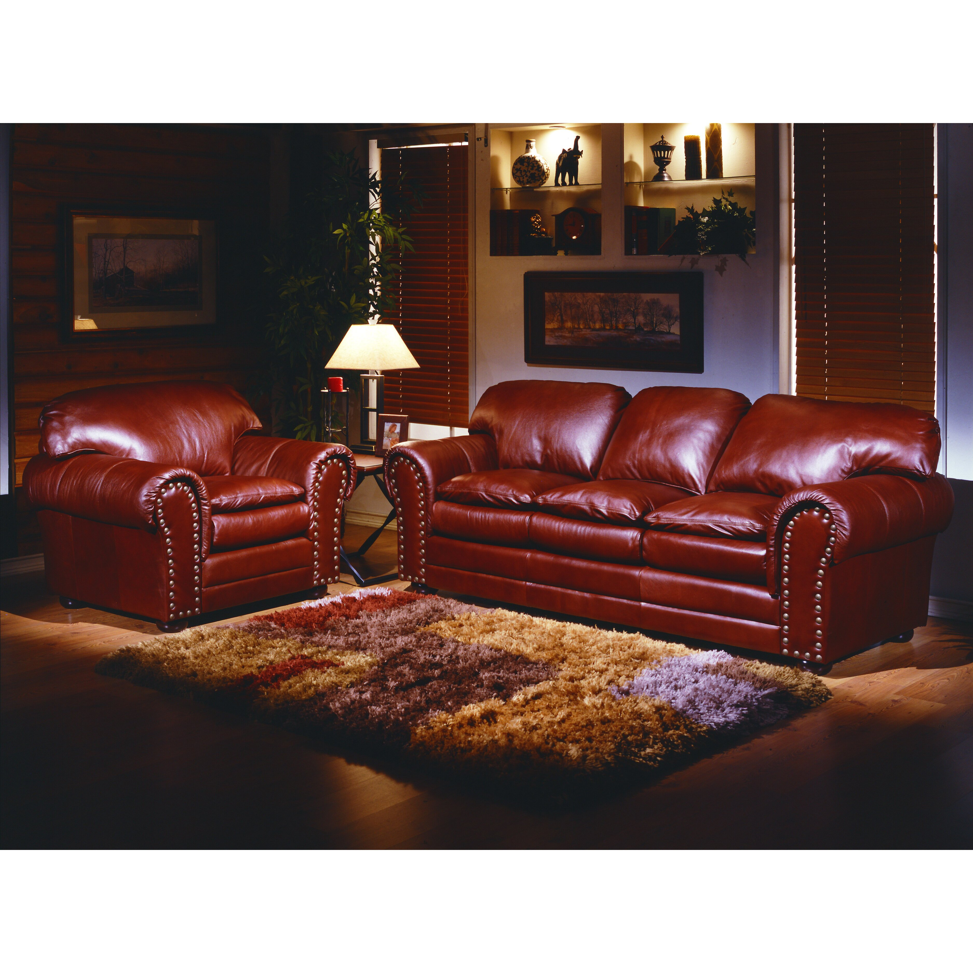 Leather Living Room Furniture: Omnia Leather Torre 4 Seat Leather Living Room Set