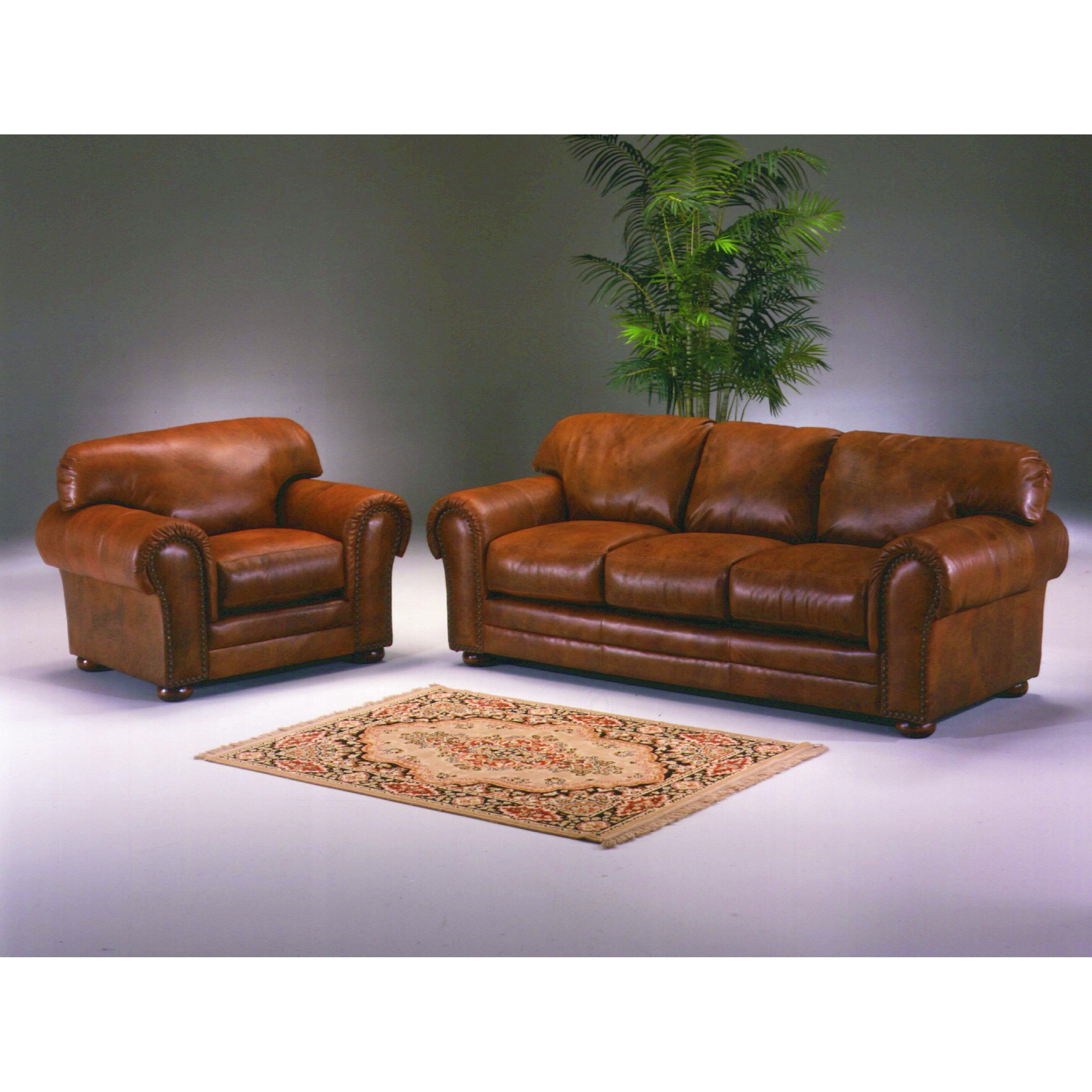 Omnia Leather Cheyenne 3 Seat Leather Sofa Set Reviews