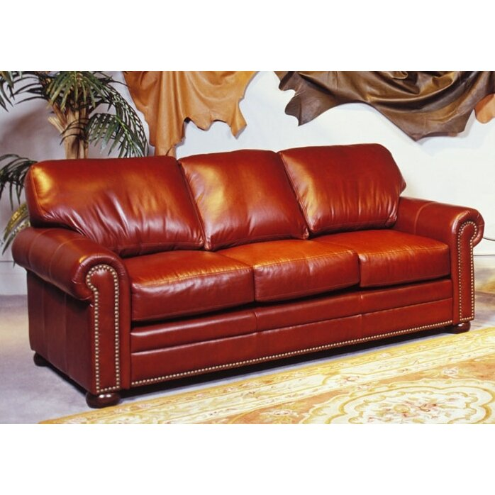 Omnia Leather Savannah Full Leather Sleeper Sofa Reviews Wayfair