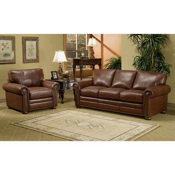 Omnia leather savannah leather 3 seat sofa living room set for Leather living room sets