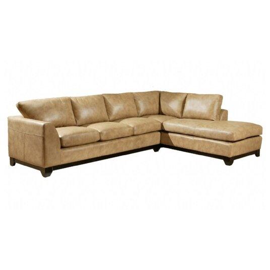Omnia Leather City Sleek Leather Sofa Reviews Wayfair