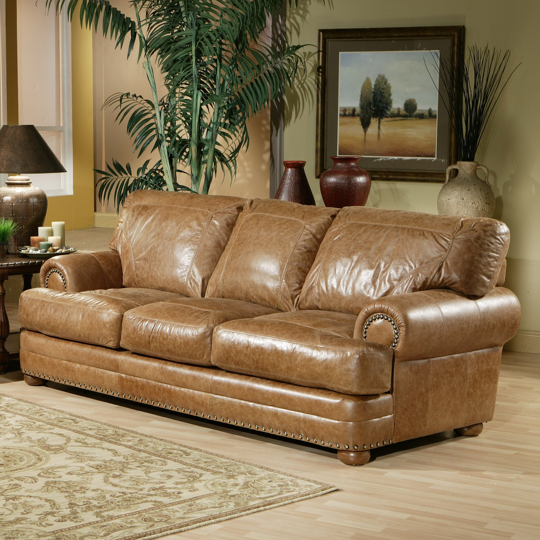 Omnia leather houston leather sofa reviews wayfair for I furniture houston