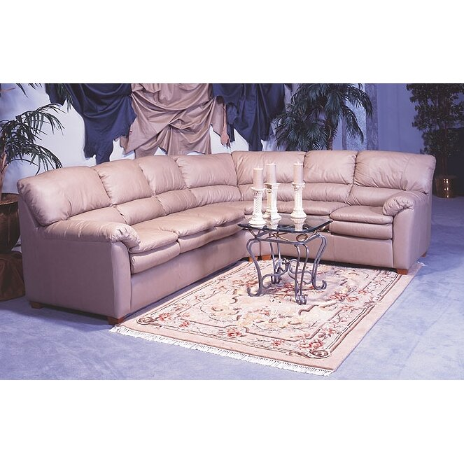 Omnia leather vegas sleeper sectional wayfair for Sectional sofa las vegas