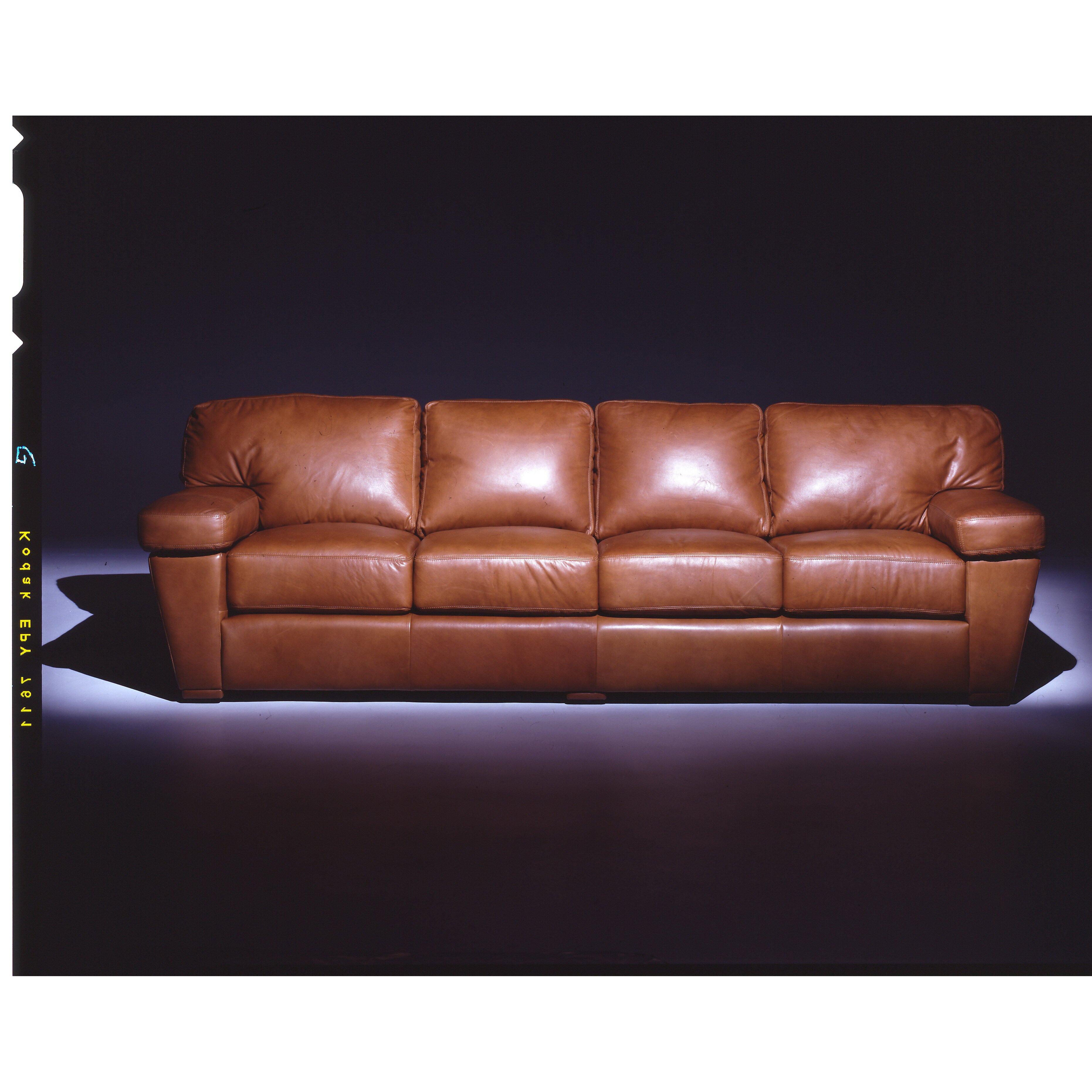Omnia Leather Prescott 4 Seat Sofa Leather Living Room Set Reviews Wayfair