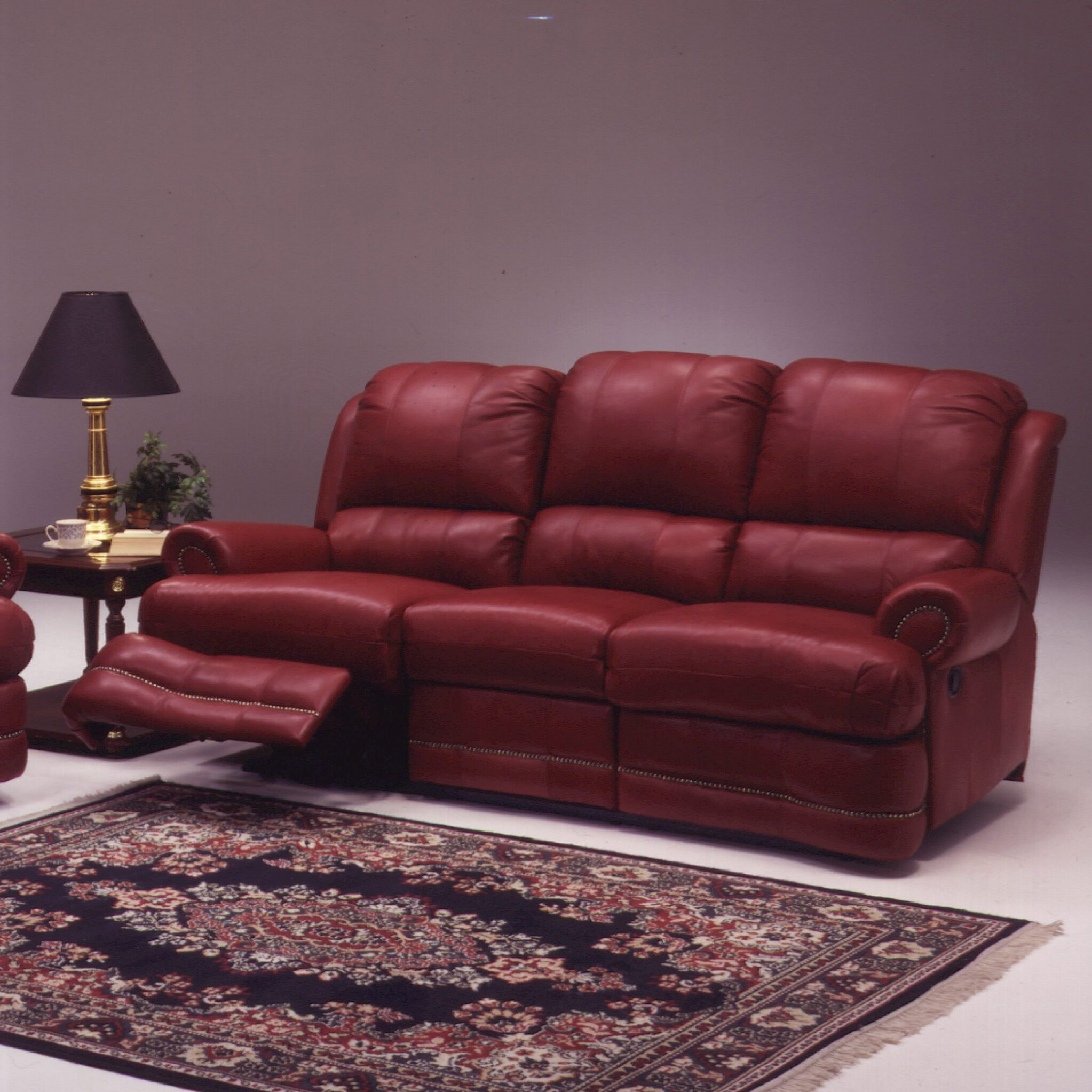 Omnia Leather Morgan Leather Reclining Sofa Reviews