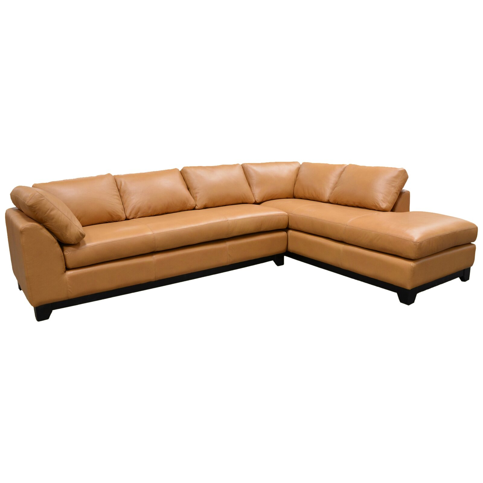 Omnia Leather Villa Sectional & Reviews
