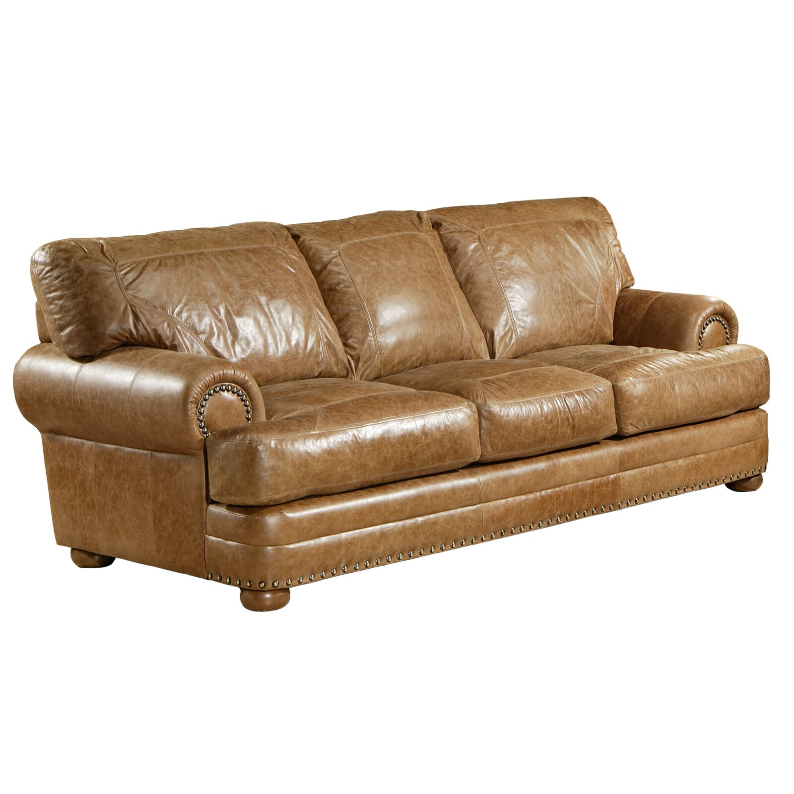 Reviews For Leather Sofas: Omnia Leather Houston Leather Sofa & Reviews
