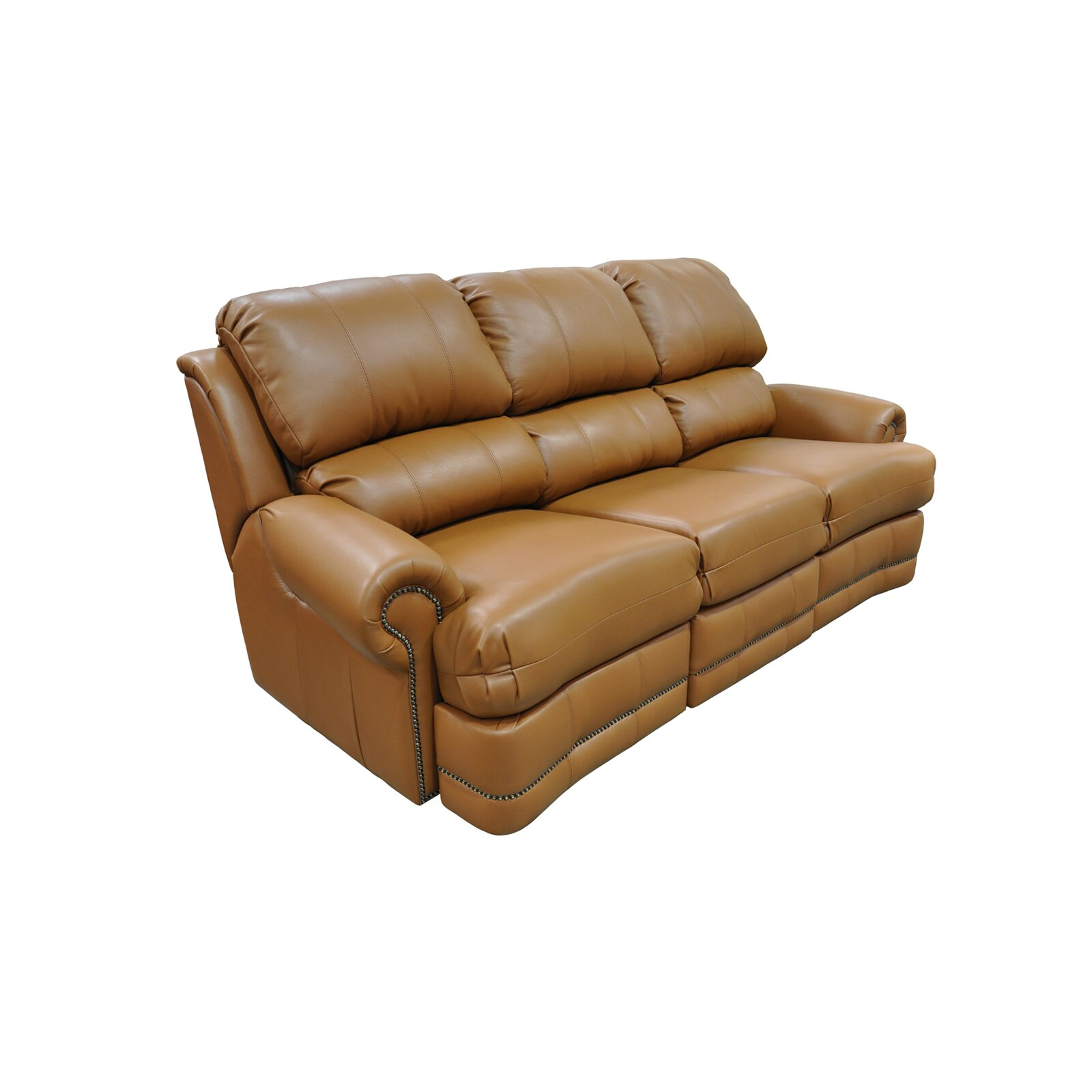 Omnia Leather Morgan Leather Reclining Sofa Wayfair