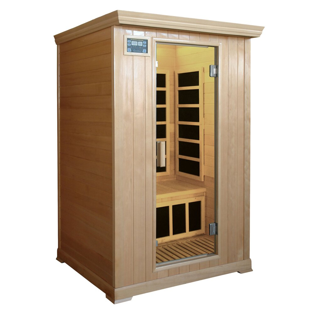 crystal sauna family series 2 person carbon far infrared