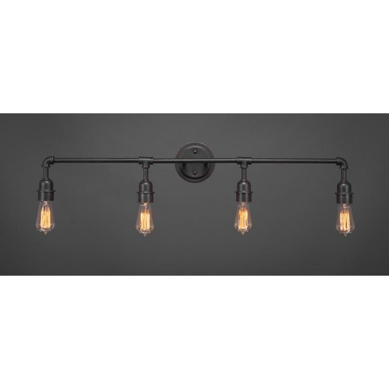 toltec lighting vintage 4 light bath bar reviews wayfair