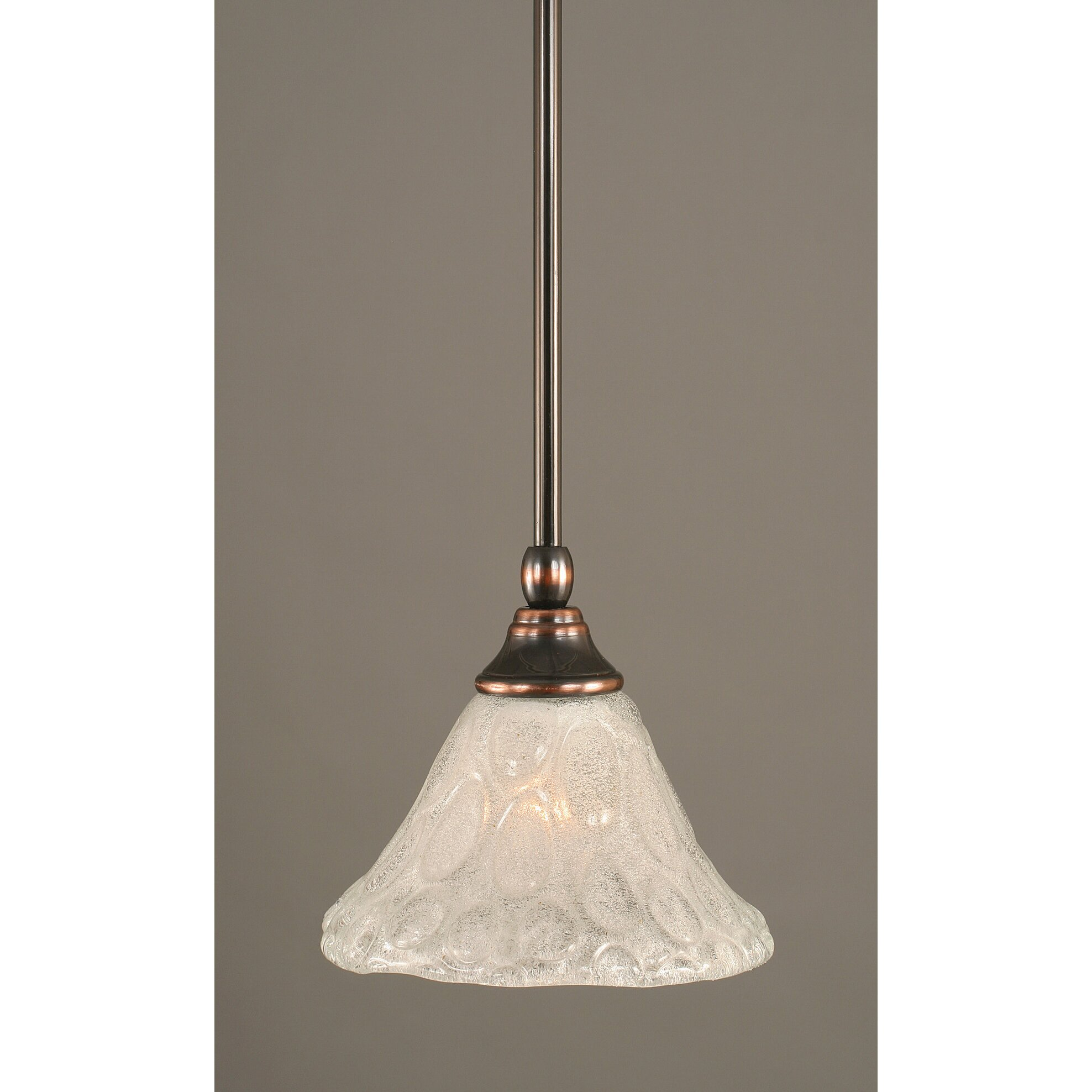 Toltec Lighting Stem Mini Pendant With Hang Straight