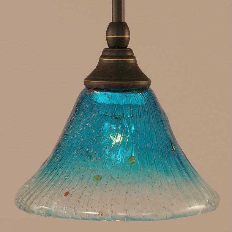 Toltec Lighting Stem Mini Pendant With Hang Straight