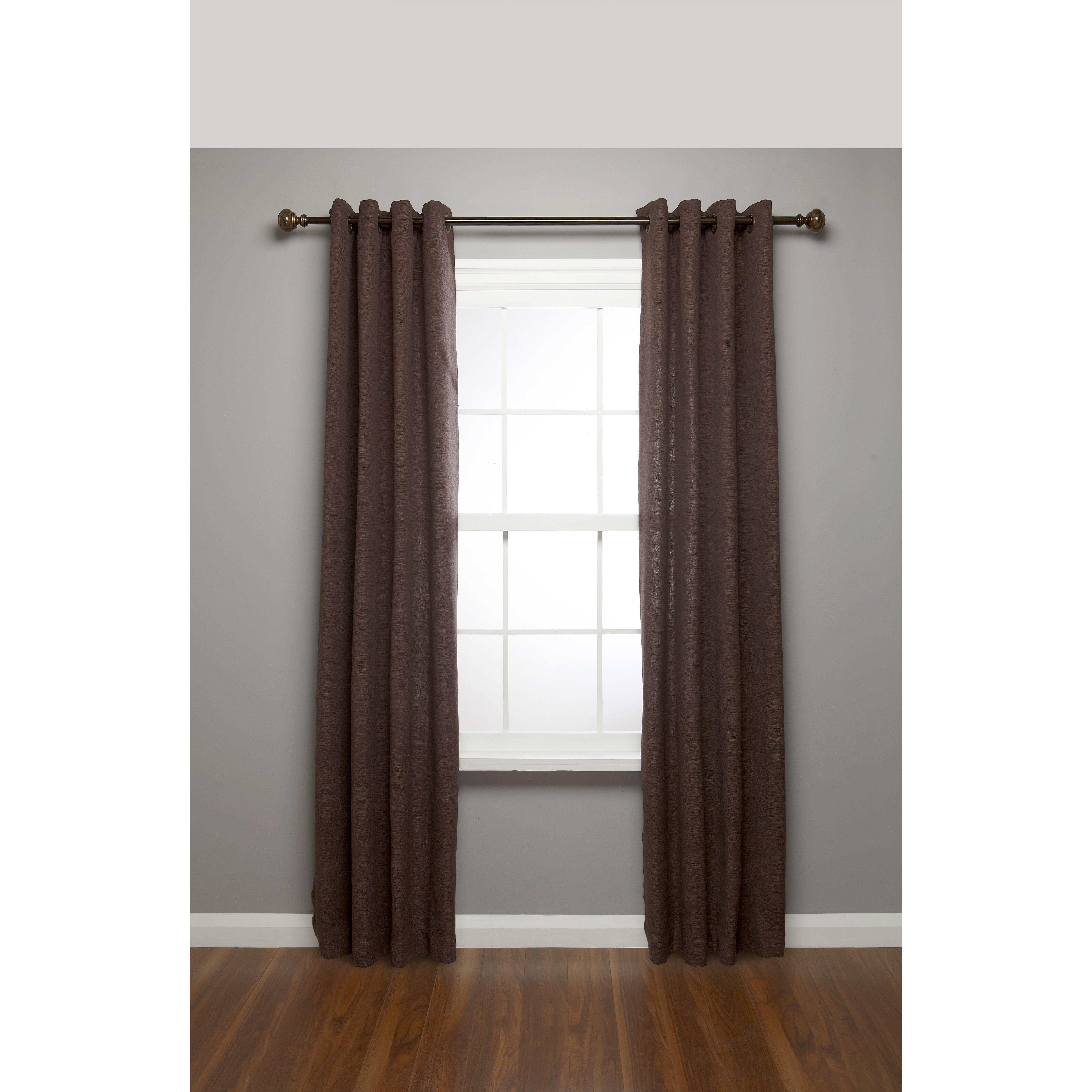 Umbra Marble Finial Drapery Curtain Single Rod Amp Reviews