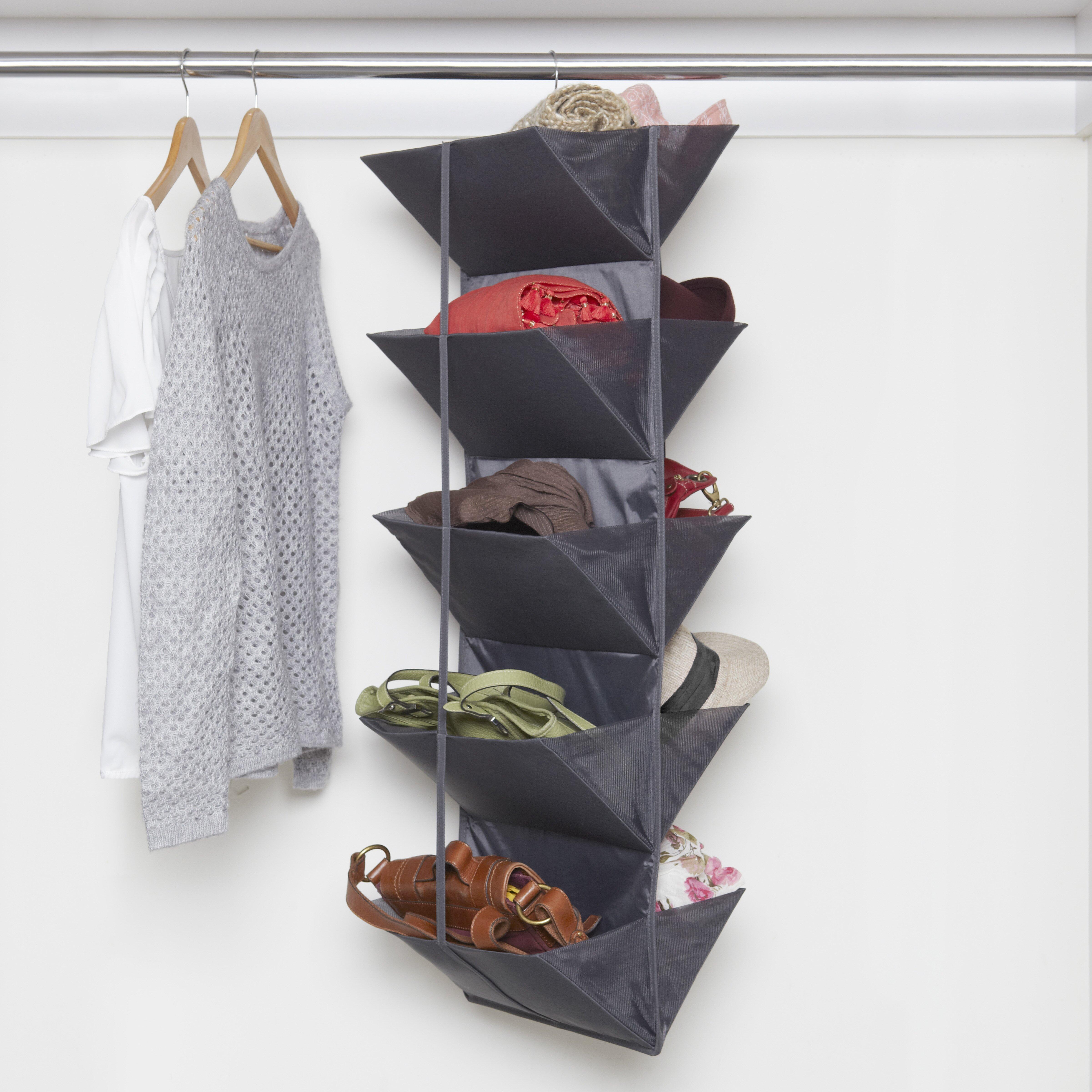 Umbra enfold 10 pocket hanging shoe organizer reviews for 12 pocket over the door shoe organizer